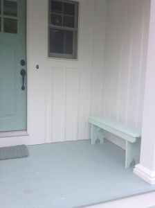 Bench re-painted x 2